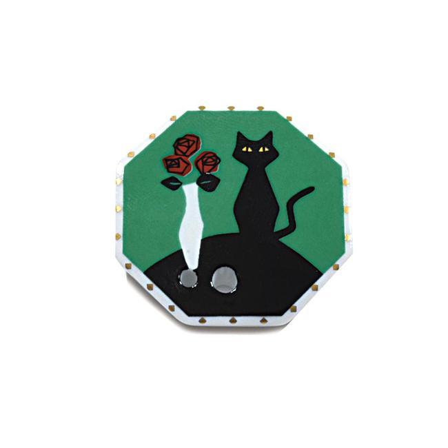 【お香立て】京都・松栄堂製お香立て<BR>☆数量限定商品<BR>◆ ハナトネコ ◆<BR><BR>お香 香立て カワイイ香立て かわいい香立て きれいな香立て くろねこ クロ猫 クロネコ ネコ 猫 ねこ 綺麗な香立て<BR><BR>