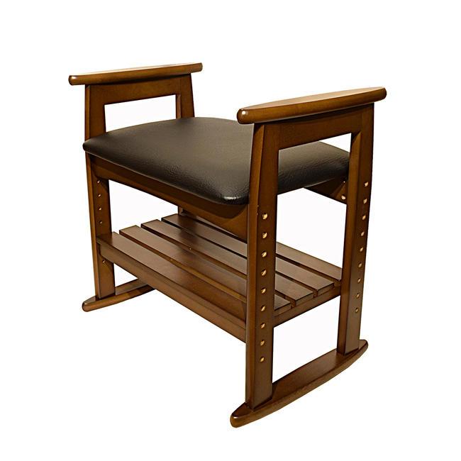 【仏前椅子】仏前用 木製椅子★高さ調整可能 法事用椅子 イス いす 法事イス 法事椅子 仏前椅子仏前イス