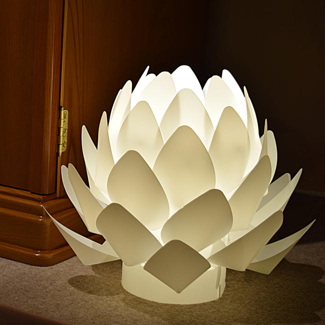 Gokurakuya Modern Lantern Lotus Flower 185cm In Height Wooden