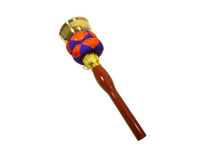 【印金】極上印金-与印 4寸(柄:木製 朱塗)日本製寺院用仏具 鳴り物仏具