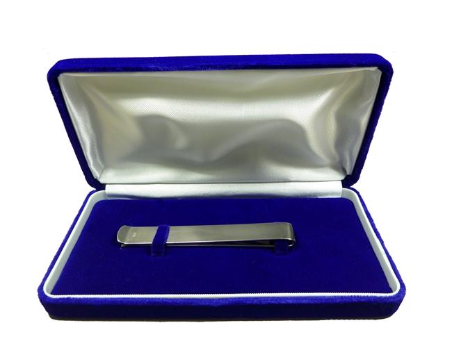 純銀製-帯留め (箱付)