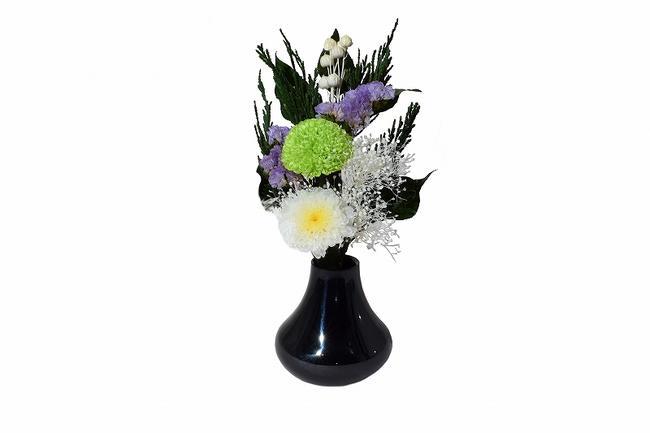 【花立て】花立 花(HANA)墨色◆日本製現代仏具 金属花立 手作り花立 おしゃれな花立 きれいな花立