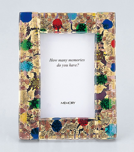 【写真立て】ヴェネツィアン・フォトフレーム 002 MS ★写真サイズL版(127mm×89mm)★ 《送料無料》 お仏具 現代仏具 フォトフレーム 写真立て 手作り写真立て ベネツィアンガラス ベネチアンガラス 八木研