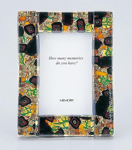 【写真立て】ヴェネツィアン・フォトフレーム 007 S ★写真サイズE版(82mm×117mm)★《送料無料》  お仏具 現代仏具 フォトフレーム 写真立て 手作り写真立て ベネツィアンガラス ベネチアンガラス 八木研