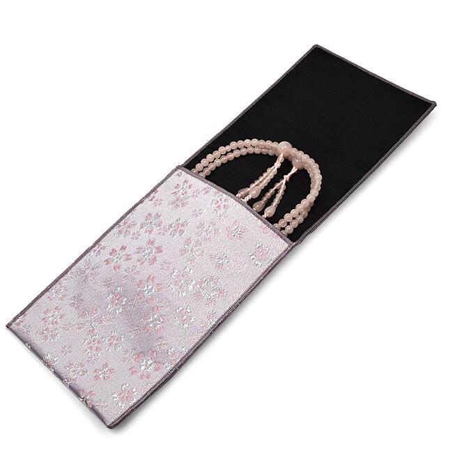 【数珠入れ/数珠袋】数珠袋 縦型タイプ かのん◆パープル色◆《郵便にてのお届けで送料140円》日本製紫色数珠袋 数珠袋 数珠入れ 数珠持ち運び