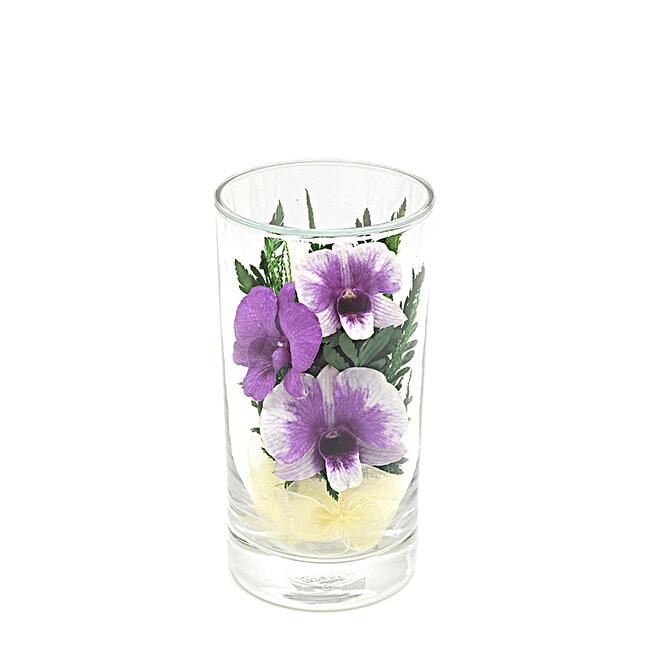 ガラスの器に入ったオシャレな ドライフラワー です 送料無料限定セール中 暑い時期には特におススメです お仏壇の仏花にもおすすめです プレゼントにもお勧めです 仏花 正規店 ガラスインフラワー Sサイズ お盆仏花 ※1本単位の販売です 造花 お彼岸仏花 高さ12cm お供え花 コンパクトサイズプレゼントお花 箱付き※全体高さ約12センチ