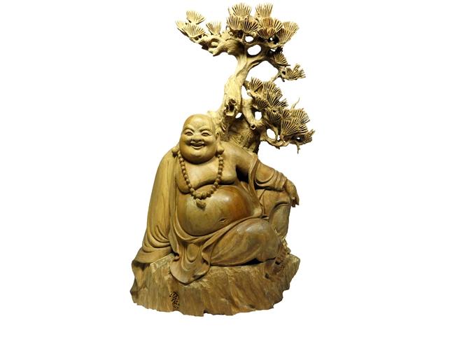 【仏像】布袋様(白檀製)※完全限定生産仏像高さ約22cm白檀仏像 七福神 金運神様 七福神
