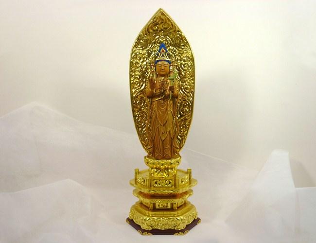 【仏像】聖観音菩薩 6寸(高さ40cm)日本製/木製-加耶材木製仏像 観音様 観音菩薩 特別価格仏像 訳あり仏像 アウトレット価格仏像