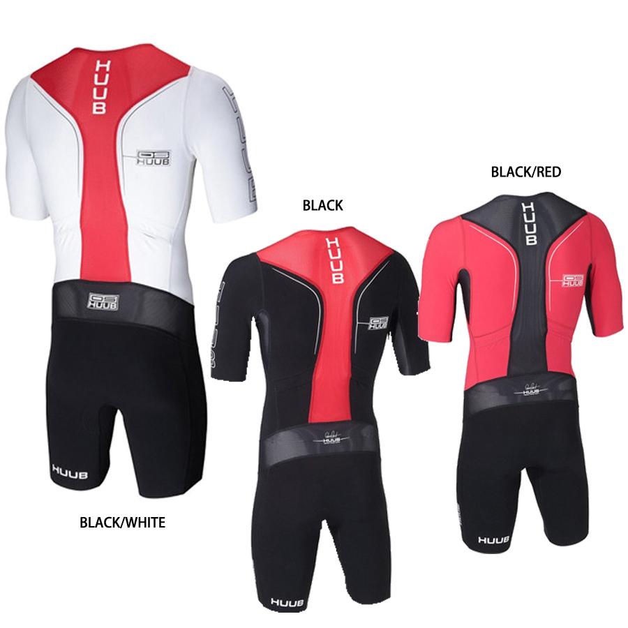 Huub Mens Dave Scott Long Course Sleeved Trisuit Black Red Sports Triathlon Full