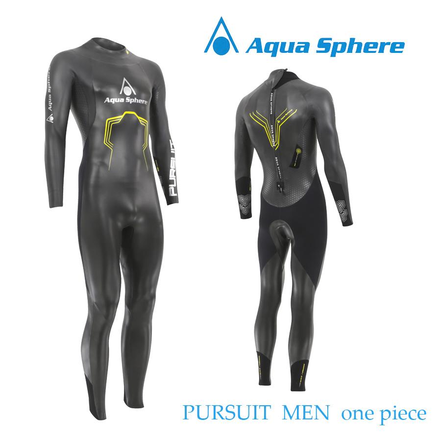 Aqua Sphere(アクアスフィア) PURSUIT MEN ONE-PIECE パースーツ ワンピース トライアスロン用ウエットスーツ【返品交換不可】