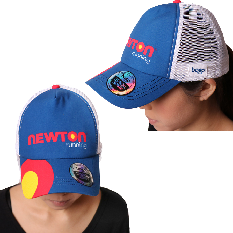 Orchid cap full of a feeling of recommended athlete for NEWTON (Newton)  trucker hat BOCO Gear collaboration model running cap triathlon and jogging d1fe4f6db74