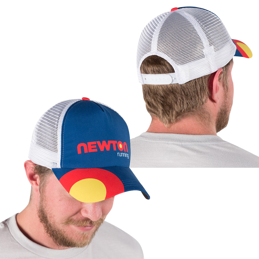 Orchid cap full of a feeling of recommended athlete for NEWTON (Newton)  trucker hat BOCO Gear collaboration model running cap triathlon and jogging 2ddd7b08b52