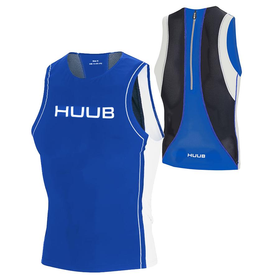 HUUB(フーブ) コアTRIトップ トライアスロン用スリーブレス リアジップシャツ(日本限定・特注モデル)【返品交換不可】