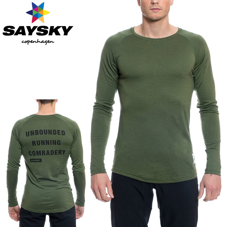 SAYSKY(セイスカイ) WOLFPACK ウルフパック クリーン 長袖Tシャツ(ロングスリーブシャツ) 【返品交換不可】