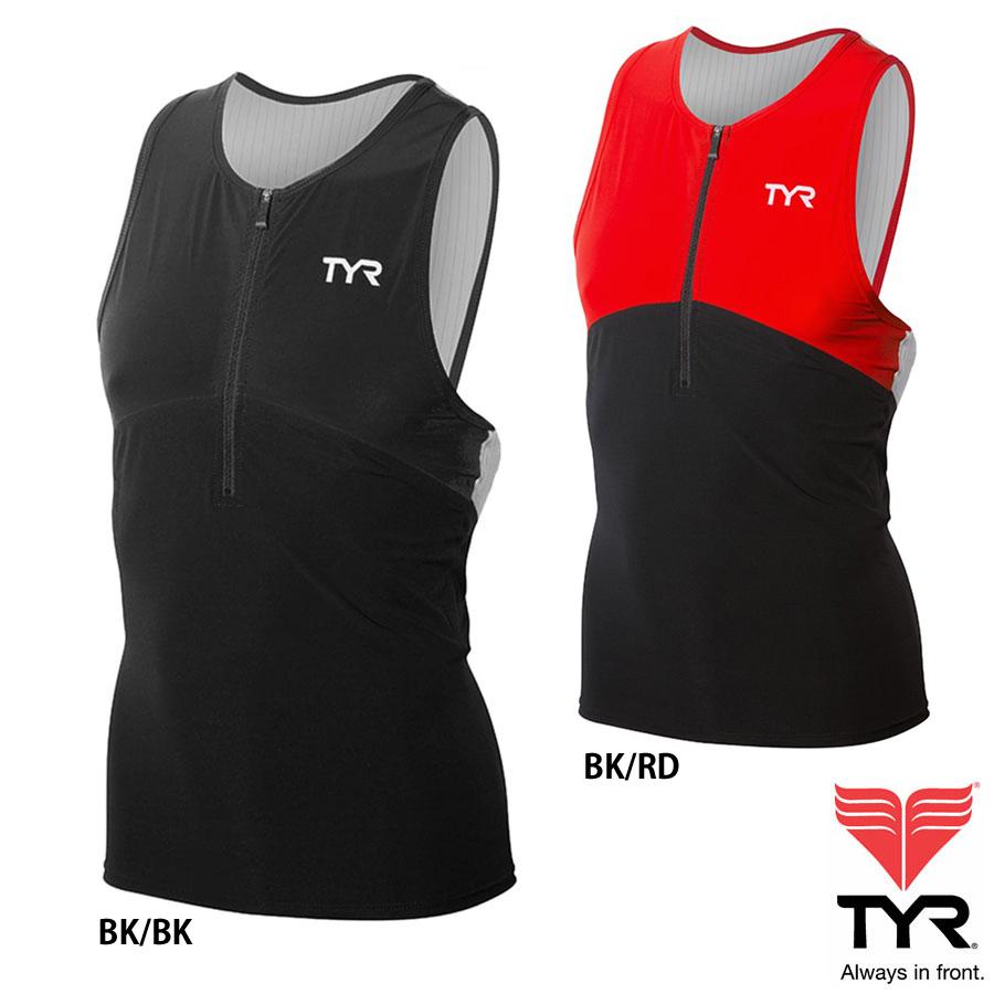 TYR(ティア) カーボン TRI タンクトップ(トライアスロン用タンクトップシャツ)シームレス製法のトップアスリートも支持するCARBONシリーズ【返品交換不可】