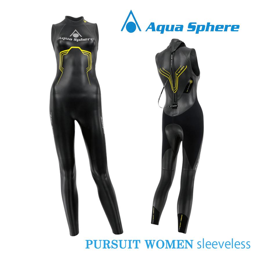 Aqua Sphere(アクアスフィア) レディース PURSUIT SLEEVELESS パースーツ スリーブレス トライアスロン用ウエットスーツ【返品交換不可】
