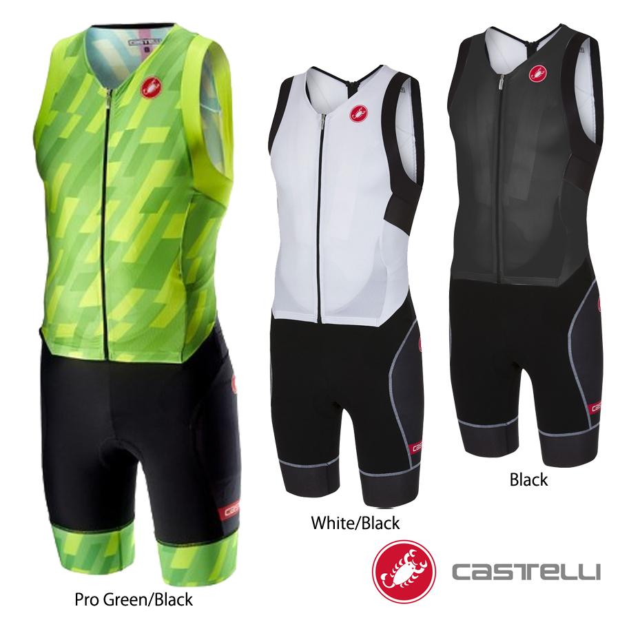 Castelli(カステリ) ノースリーブ トライアスロンスーツ/トライスーツ(FREE SANREMO SLEEVELESS TRISUIT)