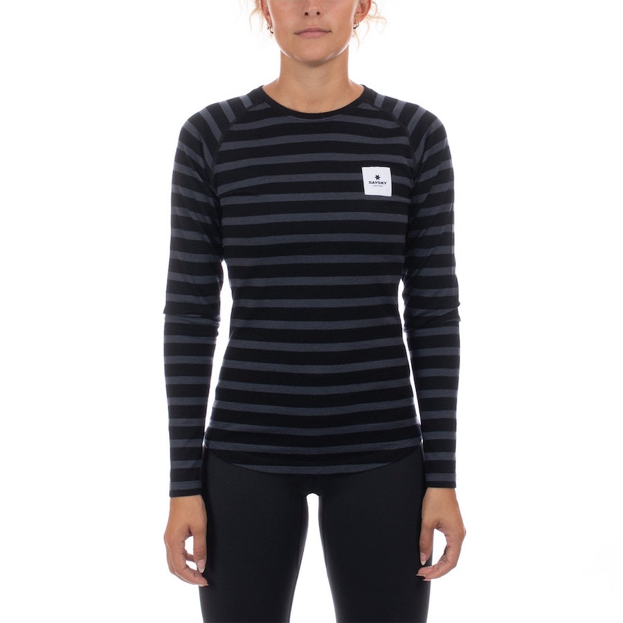 SAYSKY(セイスカイ) レディース WOLFPACK STRIPED LS TEE ウォルフパック ロングスリーブTシャツ(ランニングロンT)【返品交換不可】