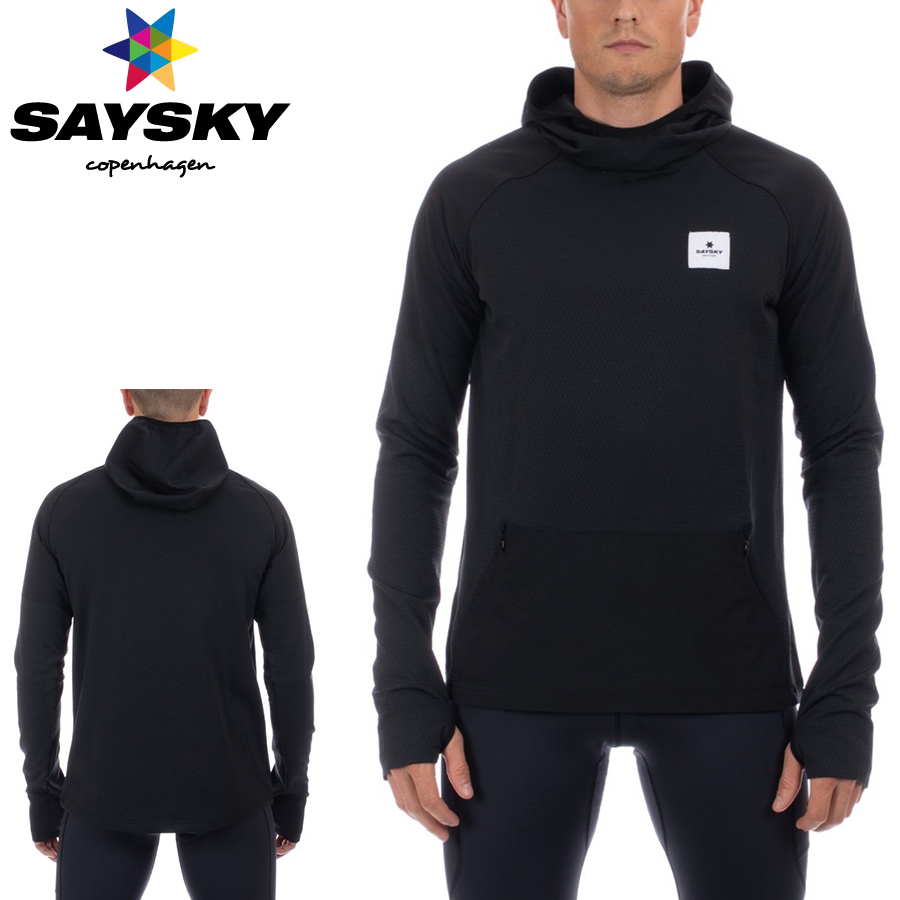 SAYSKY(セイスカイ) HOODED FLEECE フーディーエフェクト(ランニングウェア)【返品交換不可】