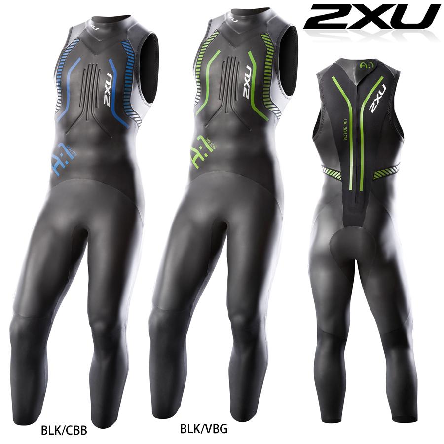 【在庫処分特価】2XU A:1 Active Sleeveless Wetsuit(アクティブスリーブレスウェットスーツ) 日本製のヤマモトネオプレン採用のトライアスロン用ウエットスーツ 【返品交換不可】