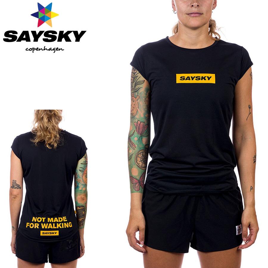 SAYSKY(セイスカイ) レディース WMNS BOX LOGO SS TEE ボックスロゴTシャツ(ランニングシャツ)【返品交換不可】