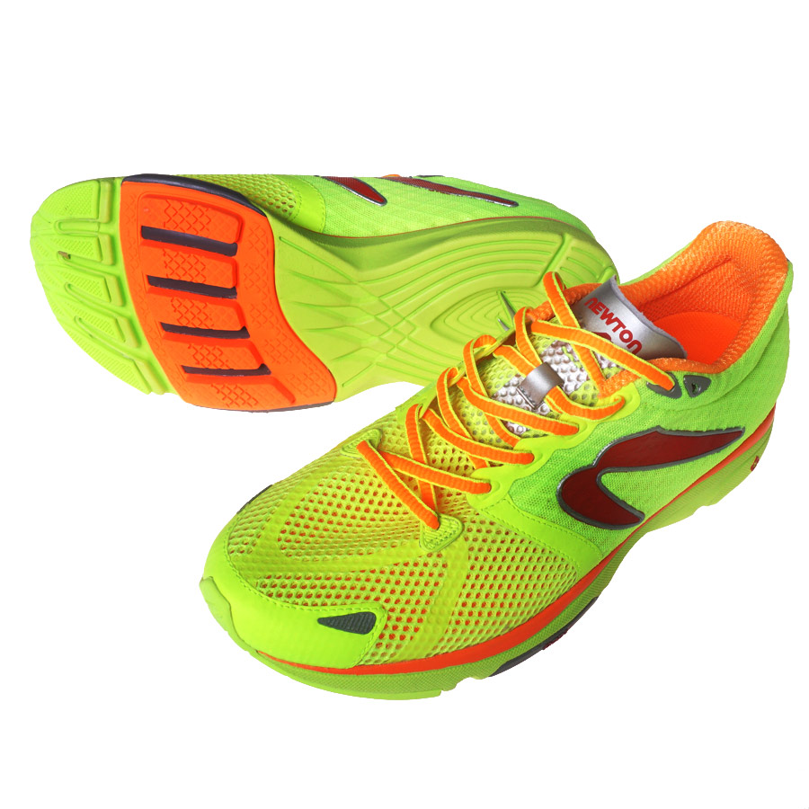 NEWTON (Newton) running shoes DISTANCE4 (distance 4) Citron × green |  M000515