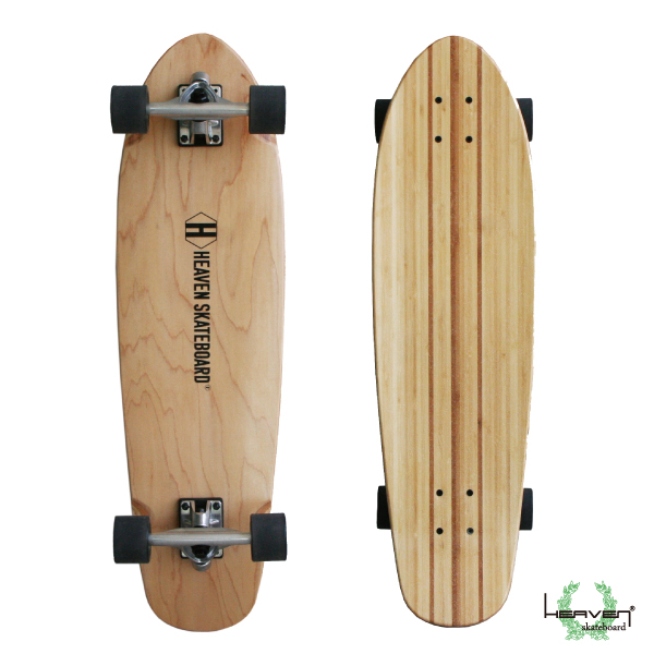 ロングスケートボード32インチ 高品質 素材に竹を使用 ロングスケートボードHEAVEN Huntington 32 inchHEAVEN ヘブン ハンティントン 32インチスノボやサーフィンのオフトレロングスケnewyear_d19入荷時にデッキに若干の傷のため特別価格