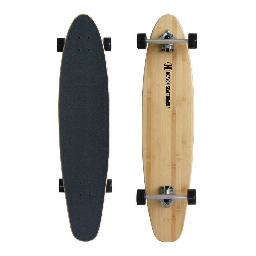 40インチ 高品質 素材に竹を使用 ロングスケートボードHEAVEN BAMBOO 40inchHEAVENヘブンバンブー40インチ安定したライディング スノボやサーフィンのオフトレロングスケボー ロンスケ サーフスケート