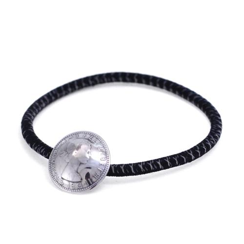 【送料無料】 コンチョブレス ブレス ブレスレット 静電気防止 お揃い ブラック 黒 プレゼント シルバー925 メンズ レディース 19juuku ハートオブコンセプト
