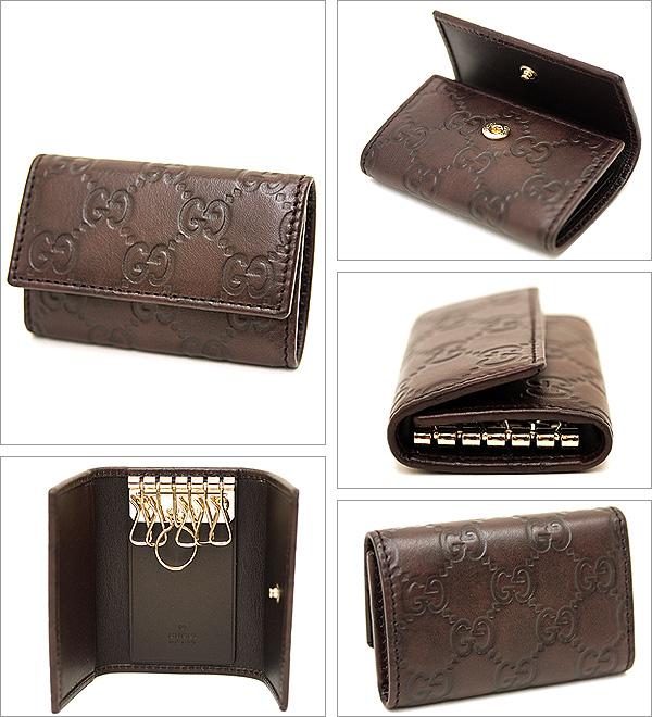 gucci key case. gucci gucci 138093 a 0v1g2019 guccissima key case chocolate 6