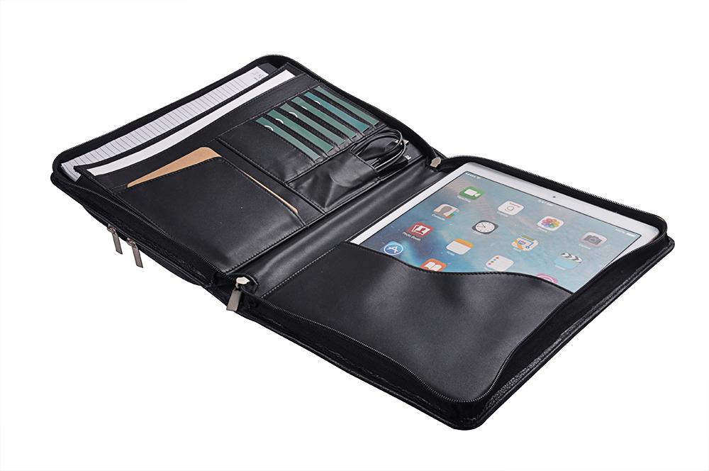 12.9 inch iPad Pro用ケース 牛革製オーガナイザー ポケット付き