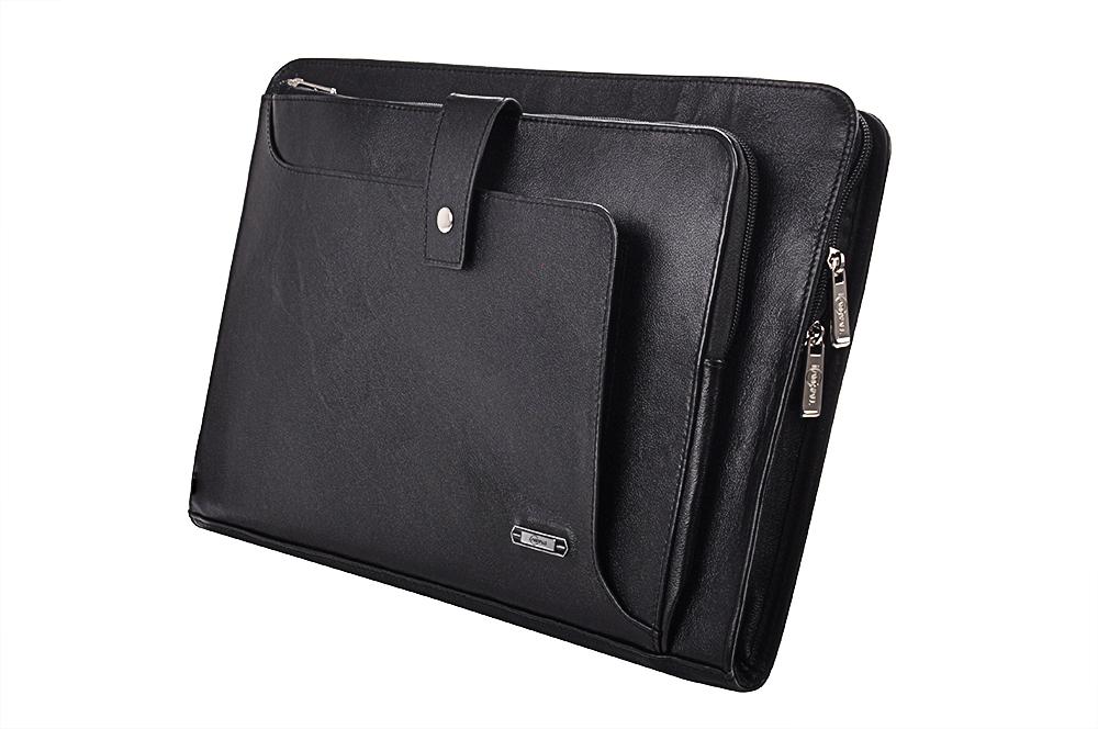 MacBook Pro 15インチ& iPad Pro用本革レザークラッチ  ダブルファスナーケース