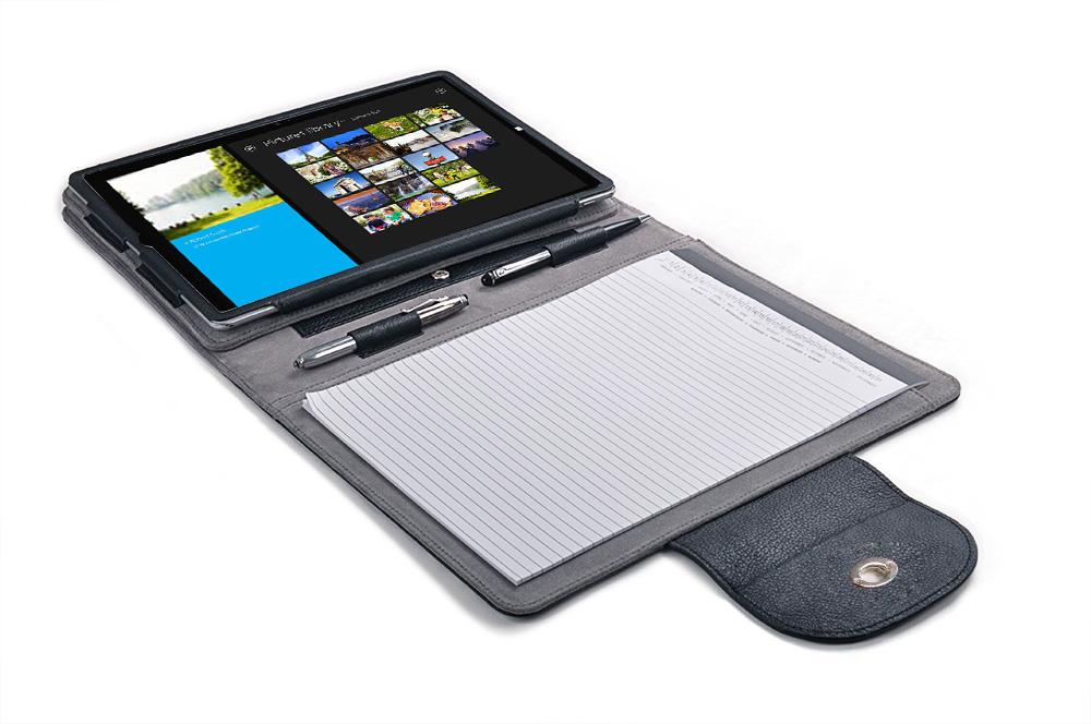 Microsoft Surface Pro 3 / Surface Pro 4用ケース エグゼクティブパッドフォリオ キックスタンド付き 本革スエードレザー製