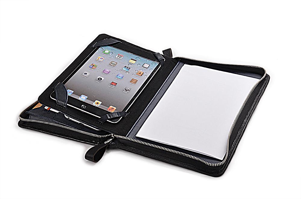 iPad Mini 4用ケース  牛革レザーパッドフォリオ  コンパクトオーガナイザー