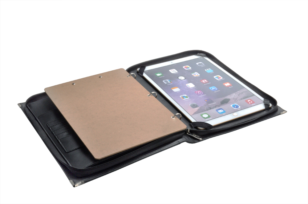 12.9 インチ iPad Pro 用ケース ハンドル・ストラップ付き プレミアムオーガナイザー 書類バインダー