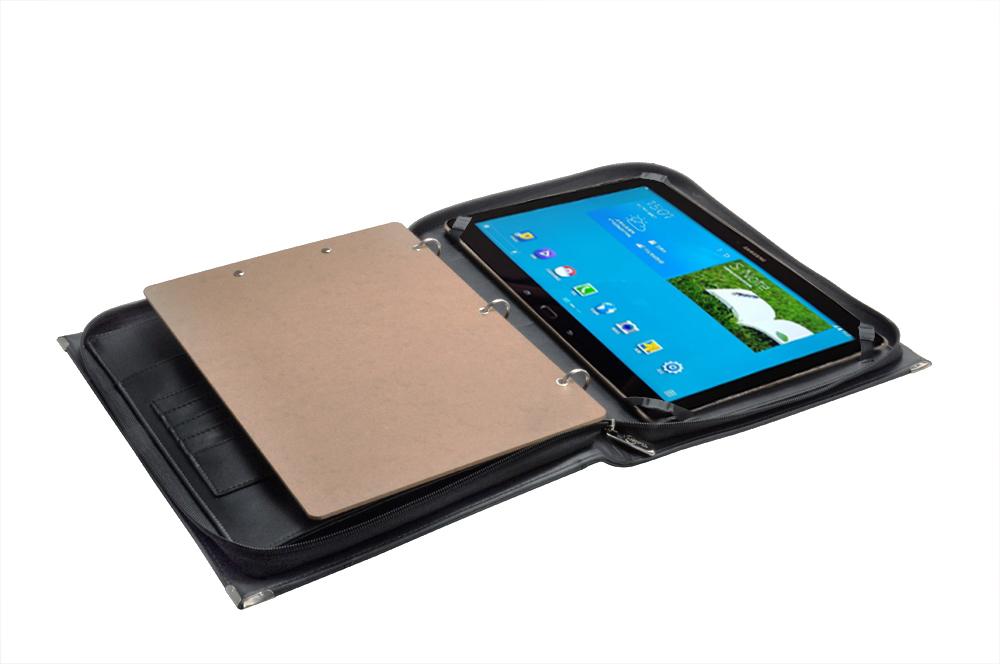 Samsung Galaxy Note Pro 12.2 用ケース ハンドル・ストラップ付き プレミアムオーガナイザー 書類バインダー