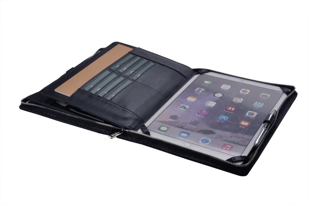 高級 ダイヤモンド柄 A4サイズオーガナイザー フォリオケース 12.9 インチ iPad Pro用ケース