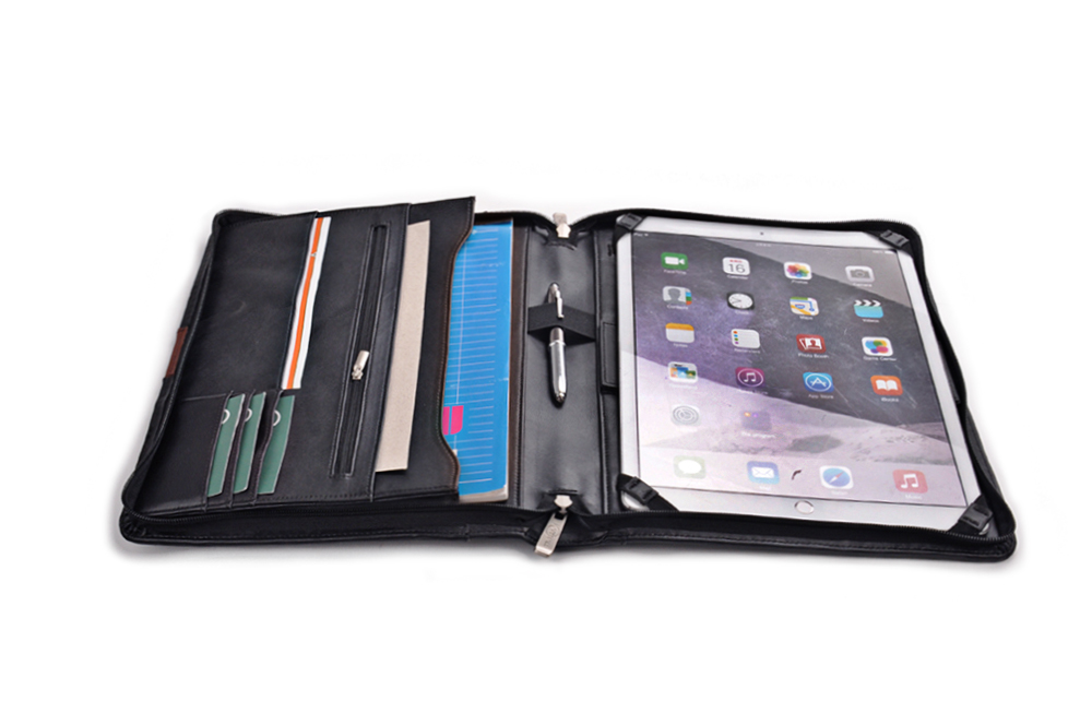 12.9 inch iPad Pro用 高級オーガナイザー パッドフォリオ ハンドル付き