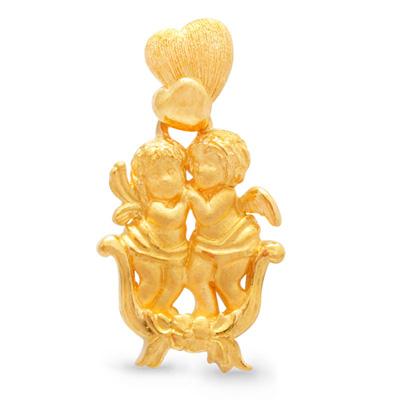 純金 24K キューピット 愛 ペンダント レディース 女性 イエローゴールド プレゼント 誕生日 贈物 24金 ジュエリー アクセサリー ブランド プリマゴールド PRIMAGOLD K24 送料無料