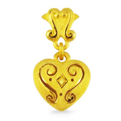 純金 24K ハート モチーフ ペンダント レディース 女性 イエローゴールド プレゼント 誕生日 贈物 24金 ジュエリー アクセサリー ブランド プリマゴールド PRIMAゴールド K24 送料無料