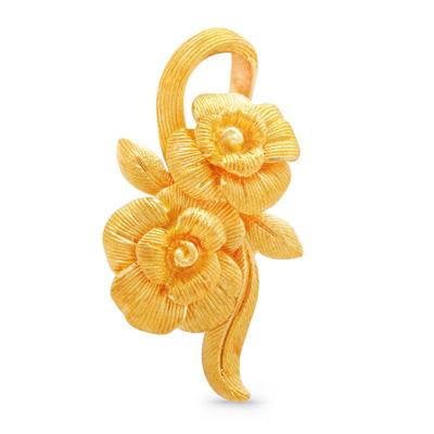 純金 アドラブルフラワー ペンダント レディース 女性 イエローゴールド ギフト プレゼント 誕生日 贈物 24金 ジュエリー アクセサリー ブランド 品質保証 人気 プリマゴールド PRIMAGOLD K24 送料無料