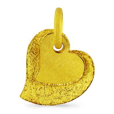 純金 24K ハート 重なり合う ペンダント レディース 女性 イエローゴールド プレゼント 誕生日 贈物 24金 ジュエリー アクセサリー ブランド プリマゴールド PRIMAゴールド K24 送料無料