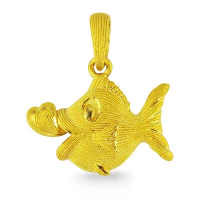 純金 24K フィッシュ 魚 ペンダント レディース 女性 イエローゴールド プレゼント 誕生日 贈物 24金 ジュエリー アクセサリー ブランド プリマゴールド PRIMAGOLD K24 送料無料