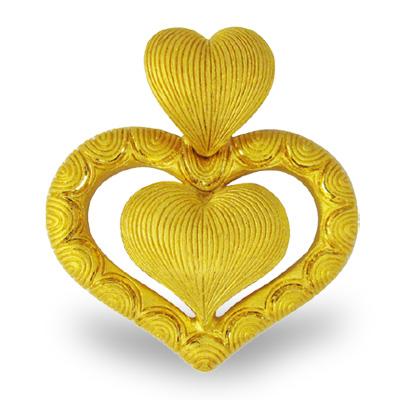 純金 24K ハートモチーフ ペンダント レディース 女性 イエローゴールド プレゼント 誕生日 贈物 24金 ジュエリー アクセサリー ブランド プリマゴールド PRIMAゴールド K24 送料無料
