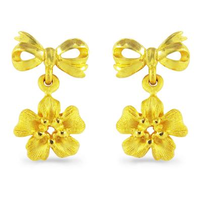 純金 24K ピアス 【送料無料】 【 BLOSSOM FLORA(ブロッサム・フローラ) 】 【ピアス】 【pierced earring】 24金 ゴールド