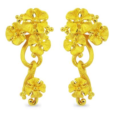 24K 身につけた人をより魅力的に見せるゴージャスなブーケ型の作品 純金 ピアス 送料無料 GORGEOUS BOUQUET ゴージャス ブーケ PRIMAGOLD earring 公式ストア K24 プリマゴールド ゴールド 期間限定で特別価格 24金 pierced