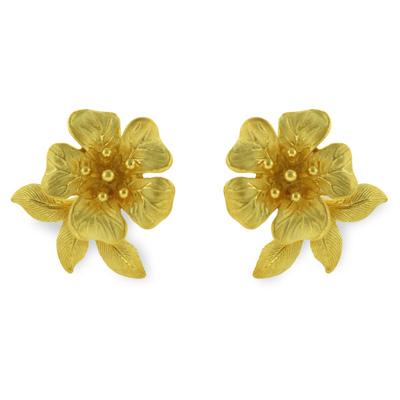 純金 24K ピアス 【送料無料】 【 VIVID FLOWER(ビビッドフラワー) 】 【ピアス】 【pierced earring】 PRIMAGOLD K24 24金 ゴールド