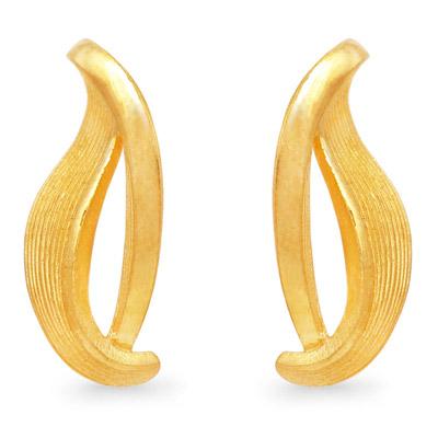 純金 24K PRIMAGOLD プリマゴールド 【送料無料】 【 Spring Leaf(スプリング・リーフ) 】 【ピアス】 【pierced earring】 24金 ゴールド