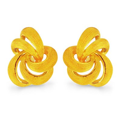 純金 24K PRIMAGOLD プリマゴールド 【送料無料】 LOVE KNOT 【ラブ・ノット】 【ピアス】 【pierced earring】 24金 ゴールド