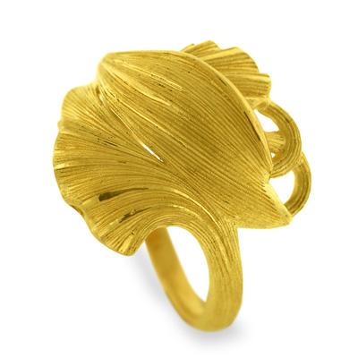 純金 24K 指輪 リーフ リング レディース 女性 イエローゴールド プレゼント 誕生日 贈物 24金 ジュエリー アクセサリー ブランド プリマゴールド PRIMAGOLD K24 送料無料